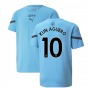 2021-2022 Man City Pre Match Jersey (Light Blue) (KUN AGUERO 10)