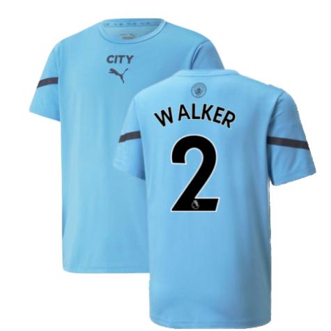 2021-2022 Man City Pre Match Jersey (Light Blue) (WALKER 2)