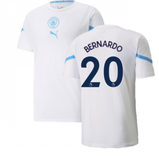 2021-2022 Man City Pre Match Jersey (White) (BERNARDO 20)