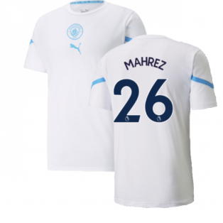 2021-2022 Man City Pre Match Jersey (White) (MAHREZ 26)