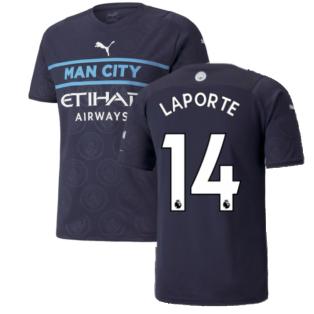 2021-2022 Man City Third Shirt (LAPORTE 14)
