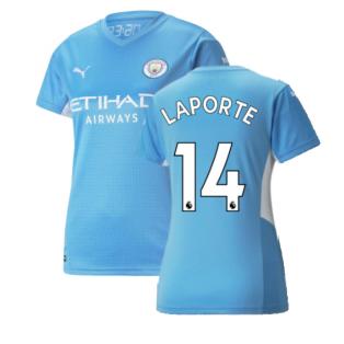 2021-2022 Man City Womens Home Shirt (LAPORTE 14)