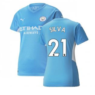 2021-2022 Man City Womens Home Shirt (SILVA 21)