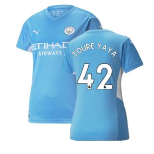 2021-2022 Man City Womens Home Shirt (TOURE YAYA 42)