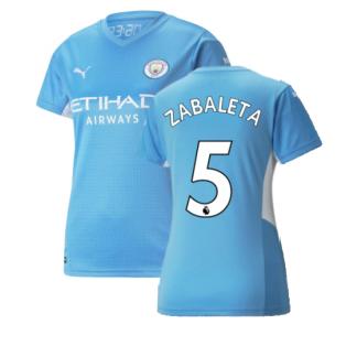 2021-2022 Man City Womens Home Shirt (ZABALETA 5)