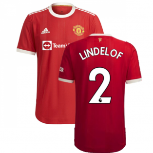 2021-2022 Man Utd Authentic Home Shirt (LINDELOF 2)