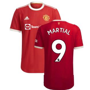 2021-2022 Man Utd Authentic Home Shirt (MARTIAL 9)