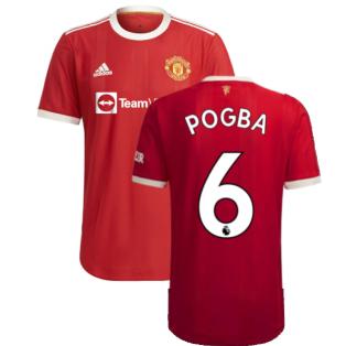 2021-2022 Man Utd Authentic Home Shirt (POGBA 6)
