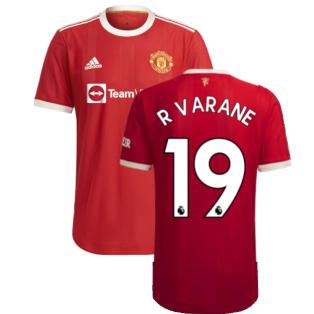 2021-2022 Man Utd Authentic Home Shirt (R VARANE 19)