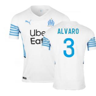 2021-2022 Marseille Authentic Home Shirt (ALVARO 3)