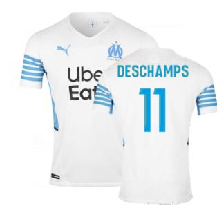 2021-2022 Marseille Authentic Home Shirt (DESCHAMPS 11)