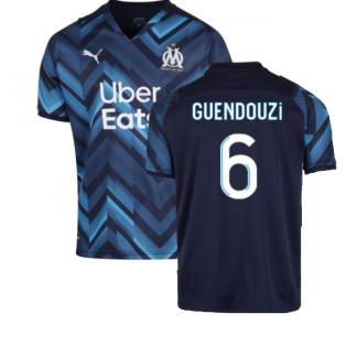 2021-2022 Marseille Away Shirt (Kids) (GUENDOUZI 6)