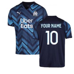 2021-2022 Marseille Away Shirt (Your Name)