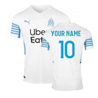 2021-2022 Marseille Home Shirt (Your Name)