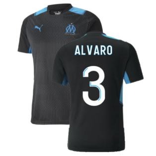 2021-2022 Marseille Training Shirt (Black) (ALVARO 3)