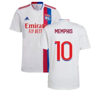 2021-2022 Olympique Lyon Home Shirt (Kids) (MEMPHIS 10)