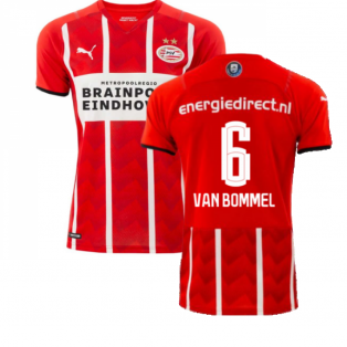 2021-2022 PSV Eindhoven Home Shirt (Van Bommel 6)
