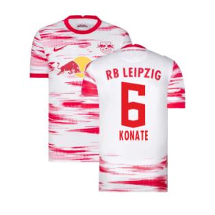2021-2022 Red Bull Leipzig Home Shirt (White) (KONATE 6)