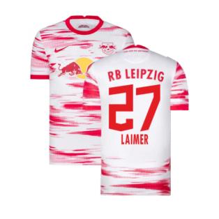 2021-2022 Red Bull Leipzig Home Shirt (White) (LAIMER 27)