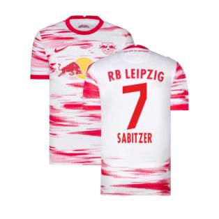 2021-2022 Red Bull Leipzig Home Shirt (White) (SABITZER 7)
