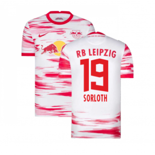 2021-2022 Red Bull Leipzig Home Shirt (White) (SORLOTH 19)