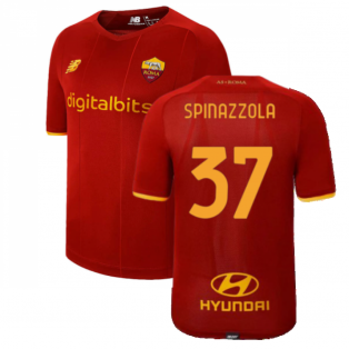 2021-2022 Roma Home Shirt (Kids) (SPINAZZOLA 37)