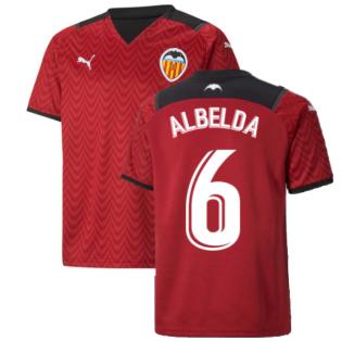 2021-2022 Valencia Away Shirt (Kids) (ALBELDA 6)