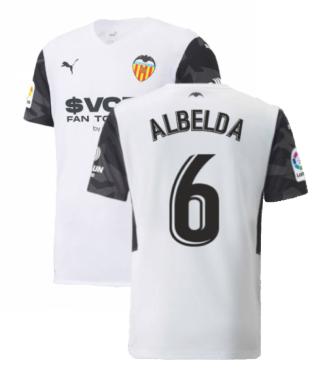 2021-2022 Valencia Home Shirt (Kids) (ALBELDA 6)