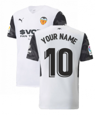 2021-2022 Valencia Home Shirt (Kids) (Your Name)