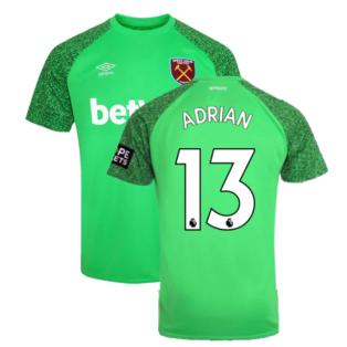 2021-2022 West Ham Home Goalkeeper Shirt (Green) (ADRIAN 13)