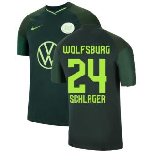 2021-2022 Wolfsburg Away Shirt (Kids) (SCHLAGER 24)