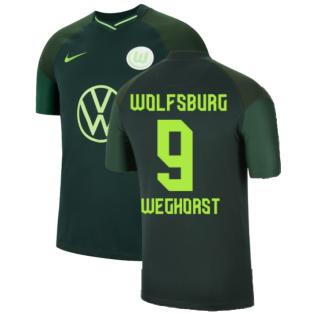 2021-2022 Wolfsburg Away Shirt (Kids) (WEGHORST 9)