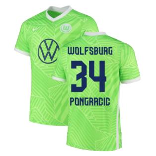 2021-2022 Wolfsburg Home Shirt (PONGRACIC 34)