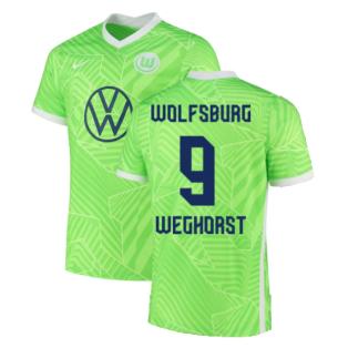 2021-2022 Wolfsburg Home Shirt (WEGHORST 9)