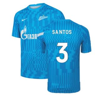 2021-2022 Zenit Pre-Match Training Shirt (Blue) (SANTOS 3)