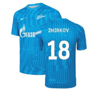 2021-2022 Zenit Pre-Match Training Shirt (Blue) (ZHIRKOV 18)