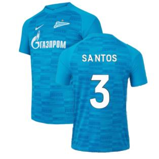 2021-2022 Zenit St Petersburg Home Shirt (Kids) (SANTOS 3)
