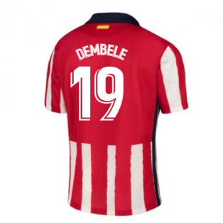 2020-2021 Atletico Madrid Home Nike Shirt (Kids) (DEMBELE 19)