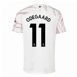 2020-2021 Arsenal Adidas Away Football Shirt (Kids) (ODEGAARD 11)