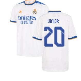 Real Madrid 2021-2022 Home Shirt (Kids) (VINI JR 20)