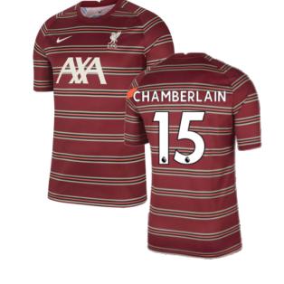 Liverpool 2021-2022 Pre-Match Training Shirt (Red) (CHAMBERLAIN 15)