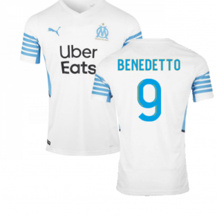 2021-2022 Marseille Home Shirt (BENEDETTO 9)