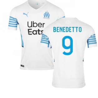 2021-2022 Marseille Authentic Home Shirt (BENEDETTO 9)