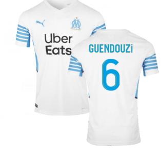 2021-2022 Marseille Home Shirt (GUENDOUZI 6)