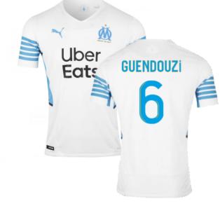 2021-2022 Marseille Authentic Home Shirt (GUENDOUZI 6)