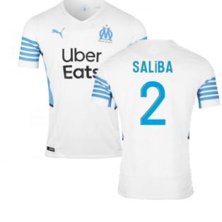 2021-2022 Marseille Authentic Home Shirt (SALIBA 2)