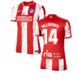 2021-2022 Atletico Madrid Womens Home Shirt (M LLORENTE 14)