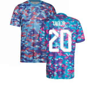 Real Madrid 2021-2022 Pre-Match Training Shirt (Pink) (VINI JR 20)