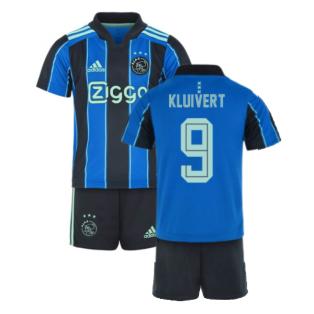 2021-2022 Ajax Away Mini Kit (KLUIVERT 9)