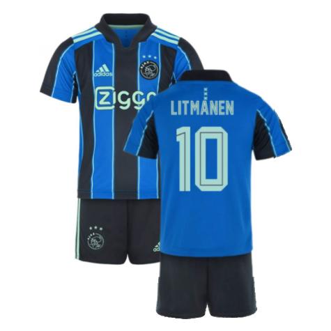 2021-2022 Ajax Away Mini Kit (LITMANEN 10)